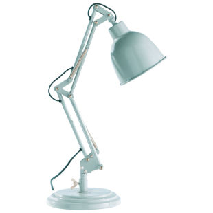 PATERSON metal directional industrial desk lamp in blue H 49cm