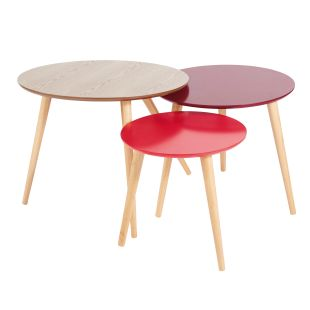 Tables gigognes vintage rouges