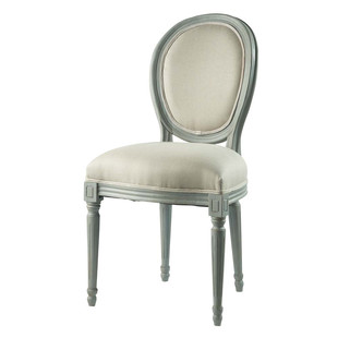 Gray Linen Chair Louis