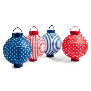 Assortment of 4 Guingette lanterns