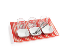 Vichy red appetiser tray