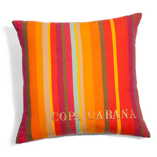 Copacabana embroidered cushion