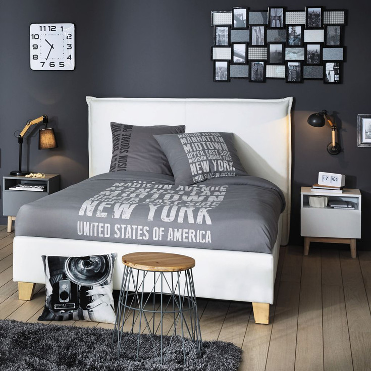 promotion maison du monde best rideau nouettes et motifs en coton bleu x cm ivy maisons with. Black Bedroom Furniture Sets. Home Design Ideas