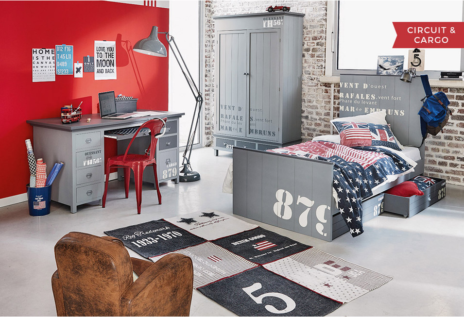 Boys 39 bedrooms furniture decor ideas maisons du monde - Deco chambre industrielle ...