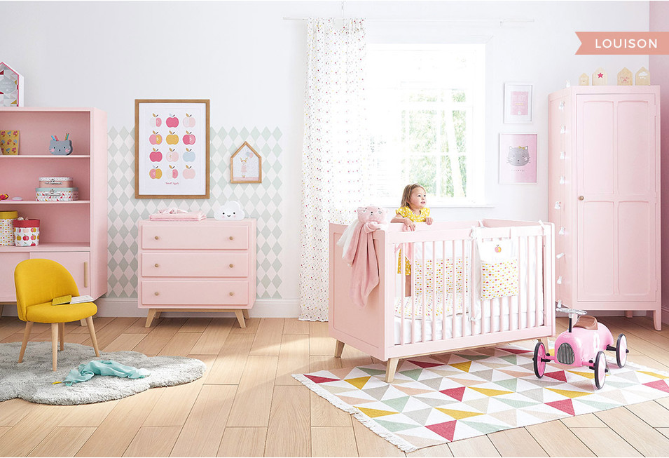 Chambre b b d co styles inspiration maisons du monde for Photo chambre bebe fille rose