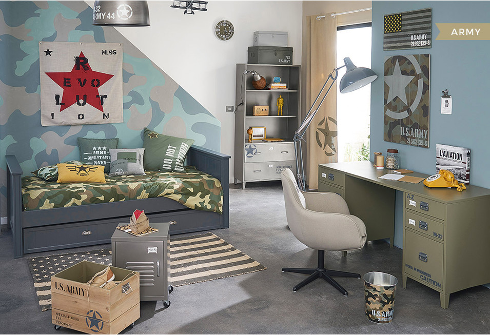 Chambre gar on d co styles inspiration maisons du monde for Decoration chambre adolescent garcon