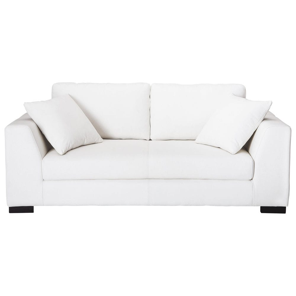 23 seater leather sofa bed in white