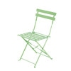 2 Aqua Metal Folding Garden Chairs - Confetti