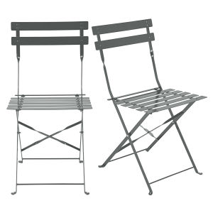 2 metal folding garden chairs