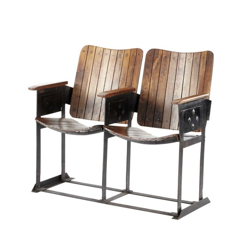 2 sitzer bank im industrial stil aus mangoholz antik. Black Bedroom Furniture Sets. Home Design Ideas