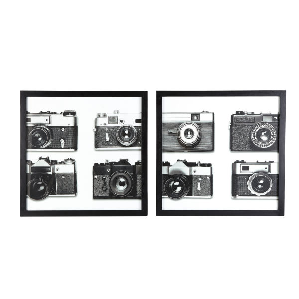 2 tableaux photos noir et blanc 60x60 (photo)