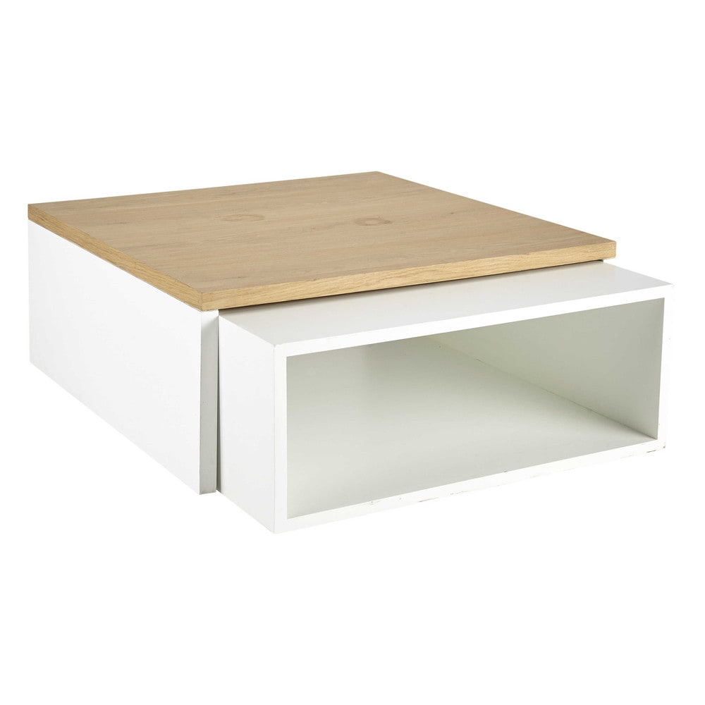 2 tables basses blanches Austral