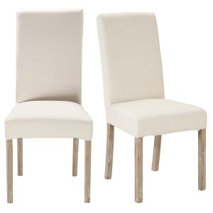 2 White Finish Pine Chairs for Covering