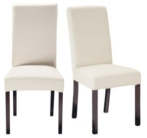 2 Wood-Coloured Stained Pine Chairs for Covering
