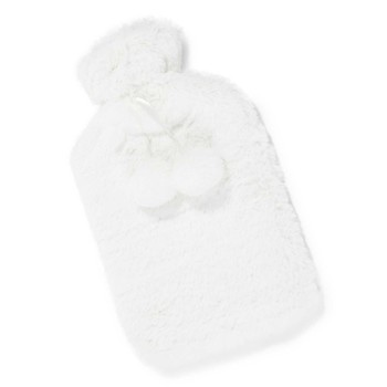 simple best l helsinki faux fur hot water bottle in white. Black Bedroom Furniture Sets. Home Design Ideas