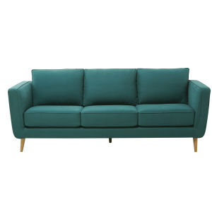 3/4 Seater Cotton and Linen Fabric Sofa in Peacock Blue