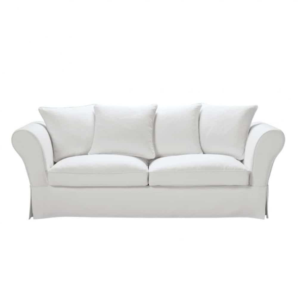 34 seater cotton sofa bed in ivory