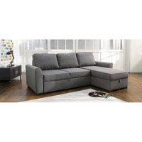 3 4 Seater Grey Fabric Corner Sofa Bed Montréal