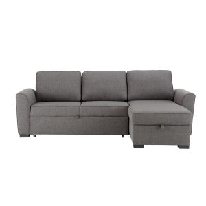 3/4 Seater Grey Fabric Corner Sofa Bed