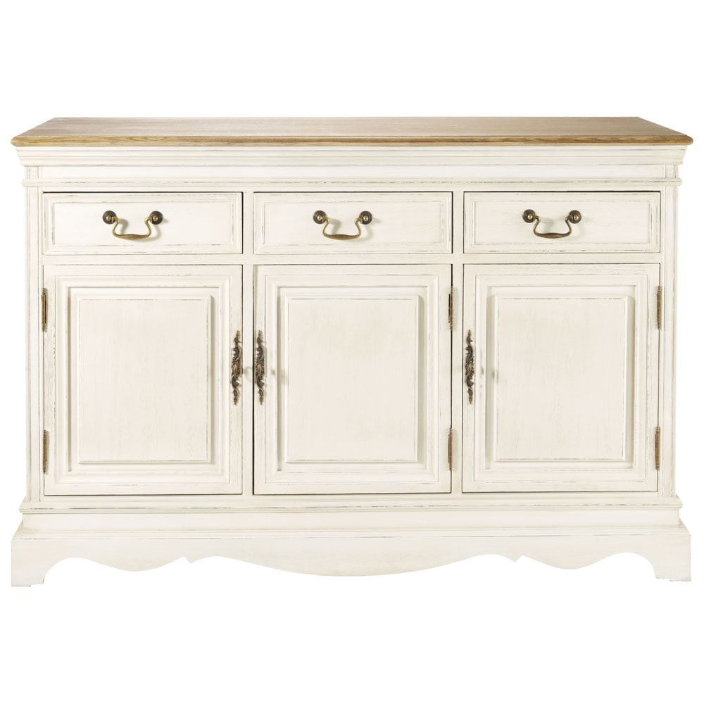 3 Door 3 Drawer Sideboard in Cream Léontine | £379.50 | Port