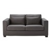 3 seater cotton sofa bed in slate grey, mattress 6 cm - Milano