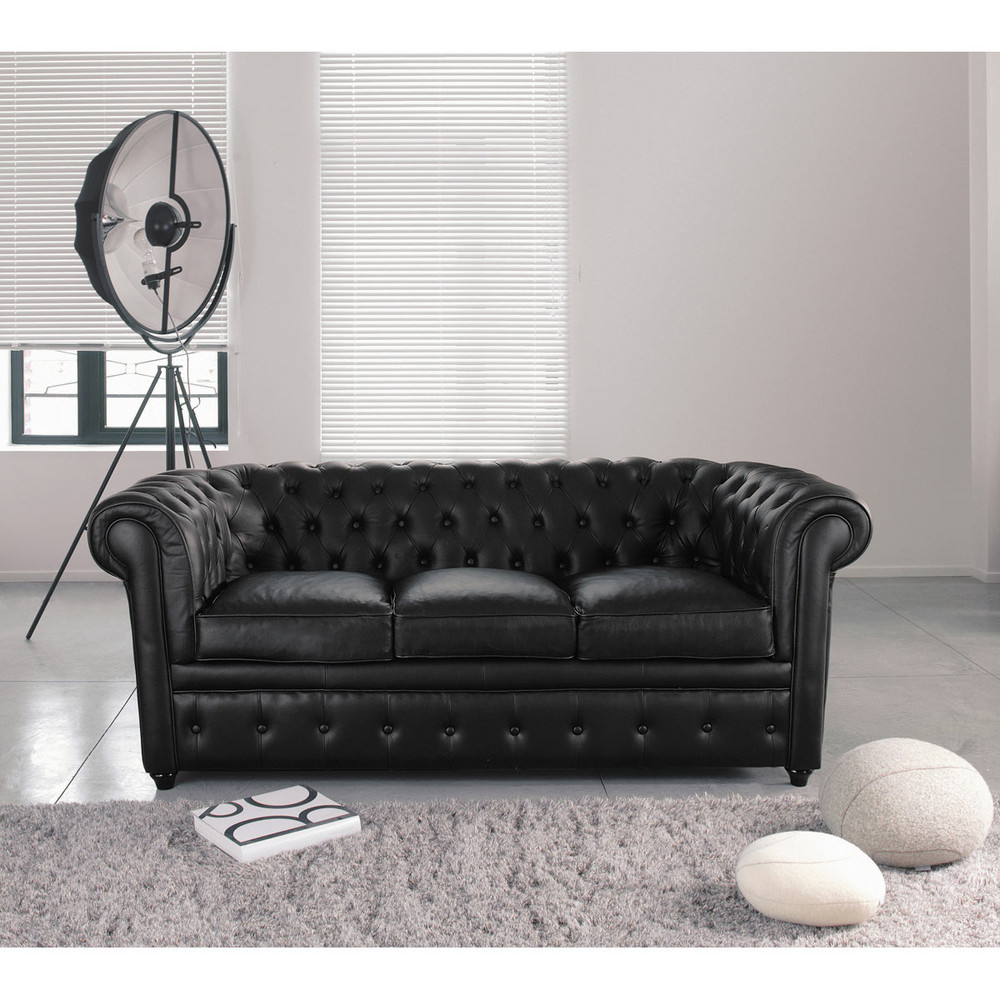 chesterfield black sofa paxton black leather chesterfield company thesofa. Black Bedroom Furniture Sets. Home Design Ideas
