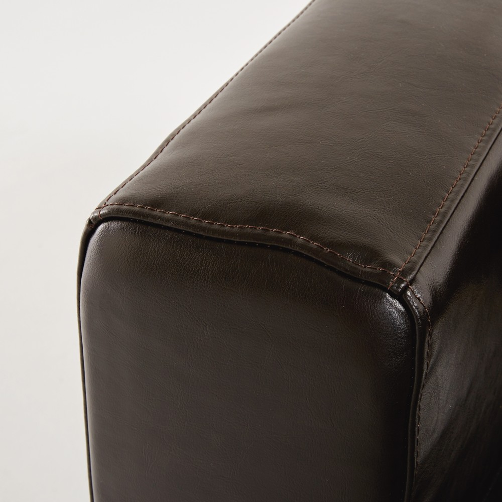 3 Seater Split Leather Sofa Bed In Chocolate Maisons Du Monde ~ Brown Leather Sofa Chair