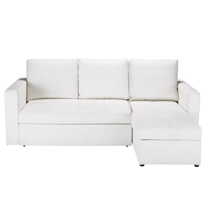 size 40 d7e91 aade3 3-Seater White Corner Sofa Bed