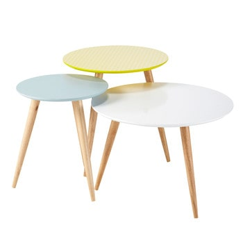 Table basse en bois verre ou m tal maisons du monde for Table basse scandinave maison du monde