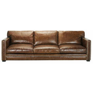 4/5 seater leather sofa in brown