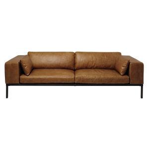 4-Seater Leather Sofa in Camel