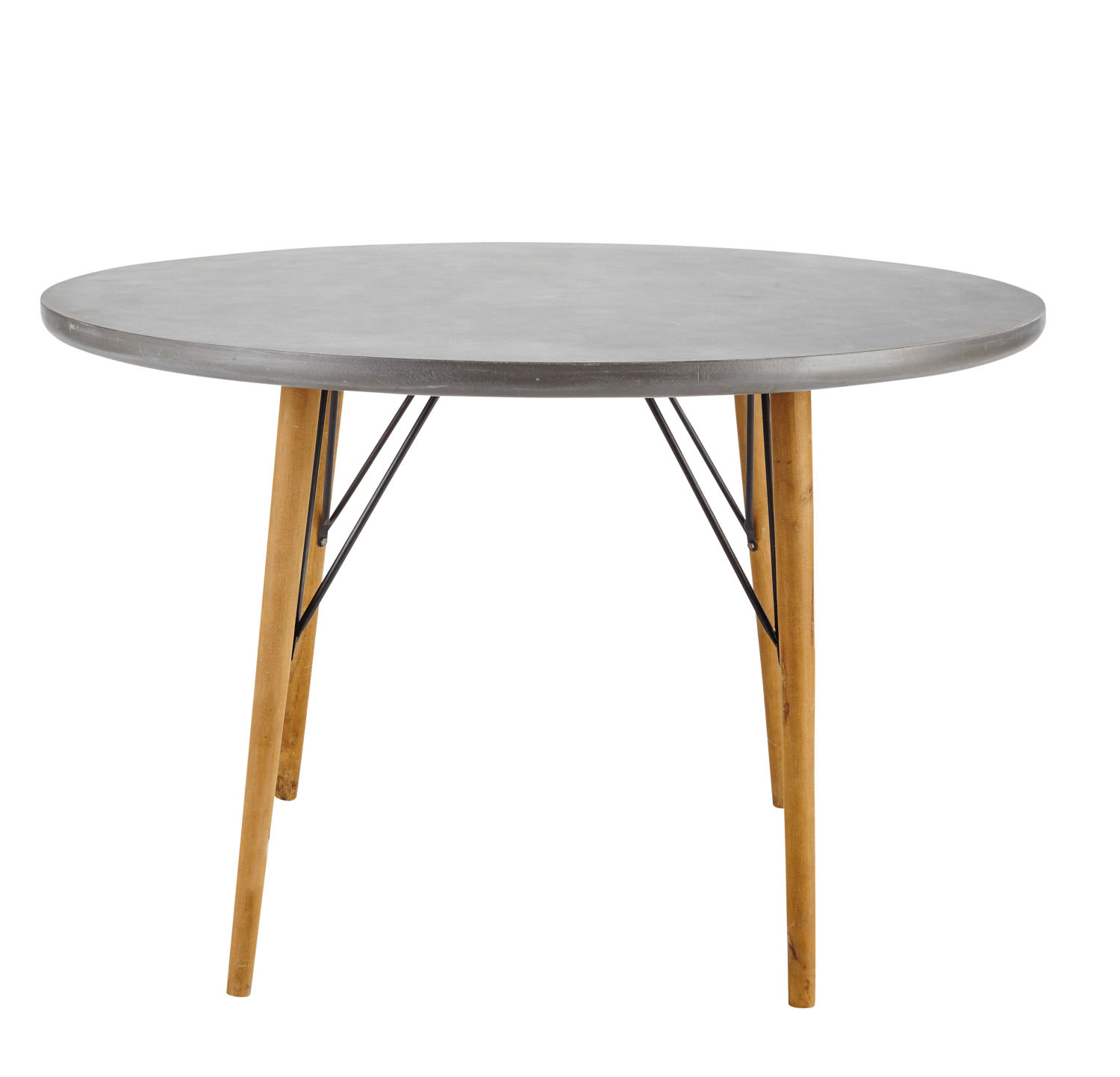 4 seater round dining table d120 maisons du monde. Black Bedroom Furniture Sets. Home Design Ideas