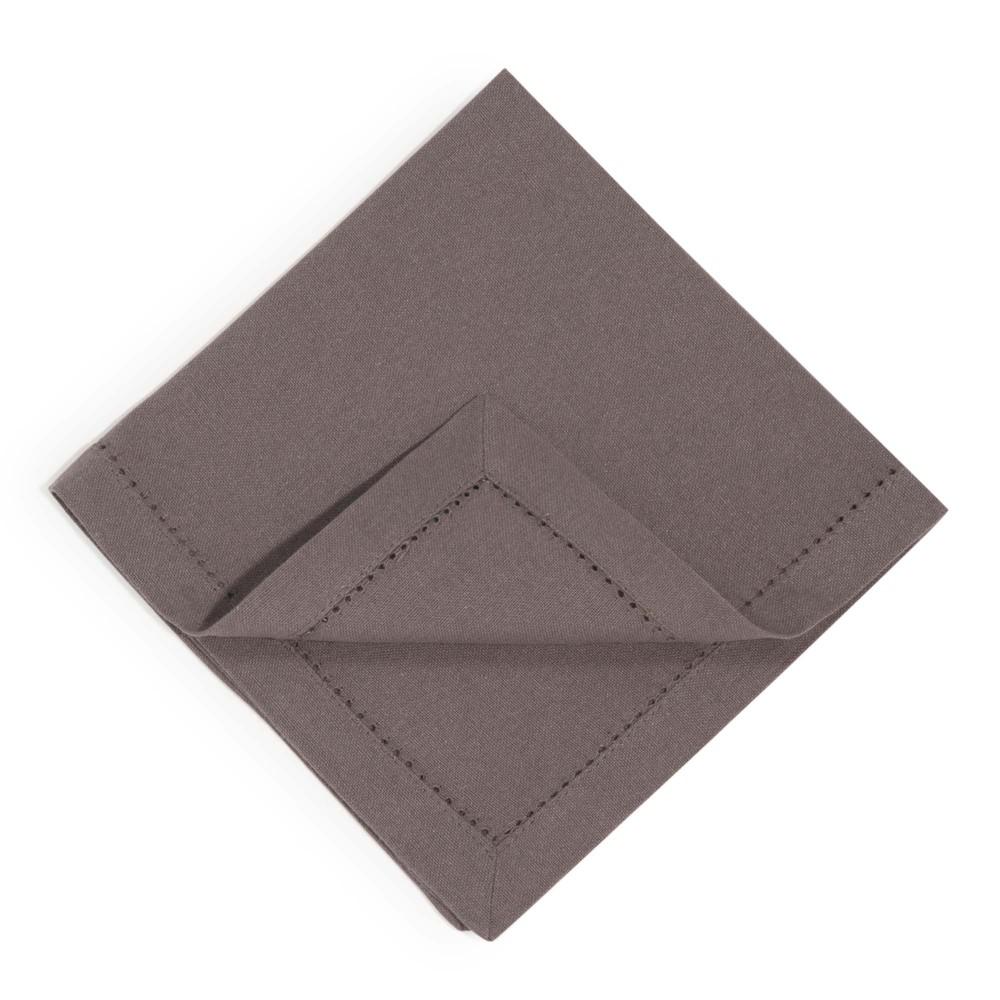 4 serviettes en coton anthracite 40 x 40 cm (photo)