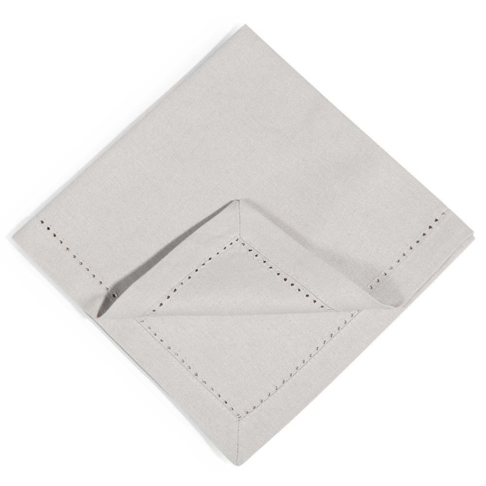 4 serviettes en coton gris 40x40cm OPALE (photo)