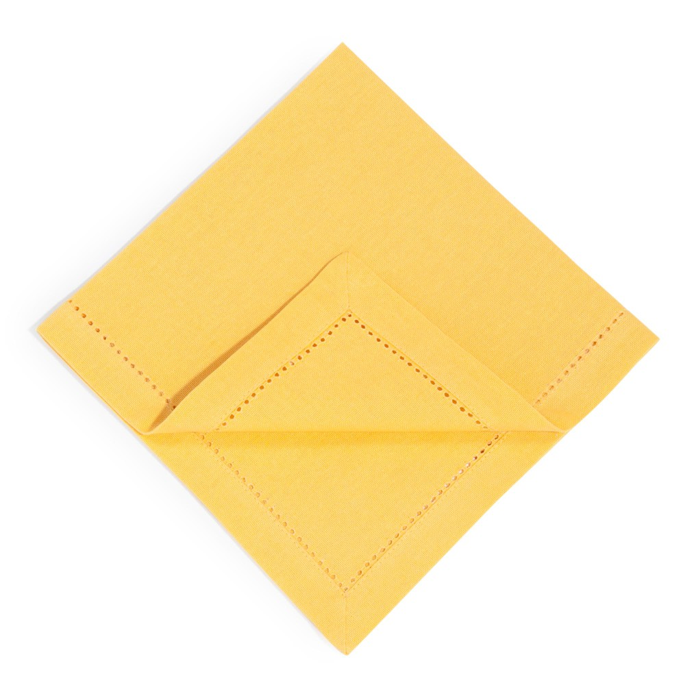 4 serviettes en coton jaune moutarde 40 x 40 cm (photo)