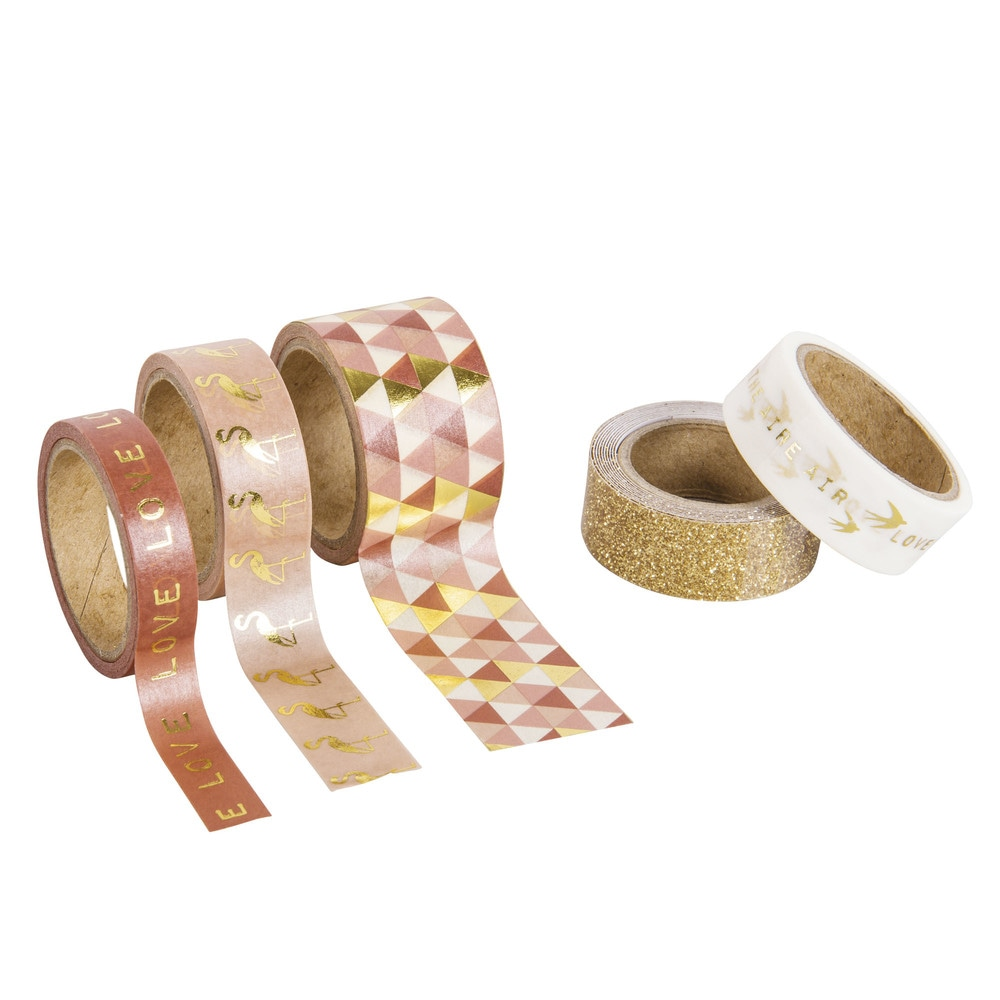 5 masking tape imprimés (photo)