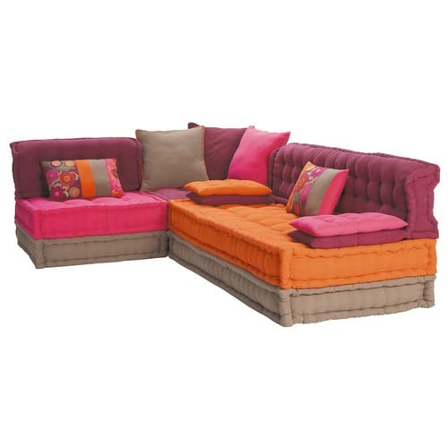 5 seater cotton corner day bed multicoloured bolcho - Daybed maison du monde ...