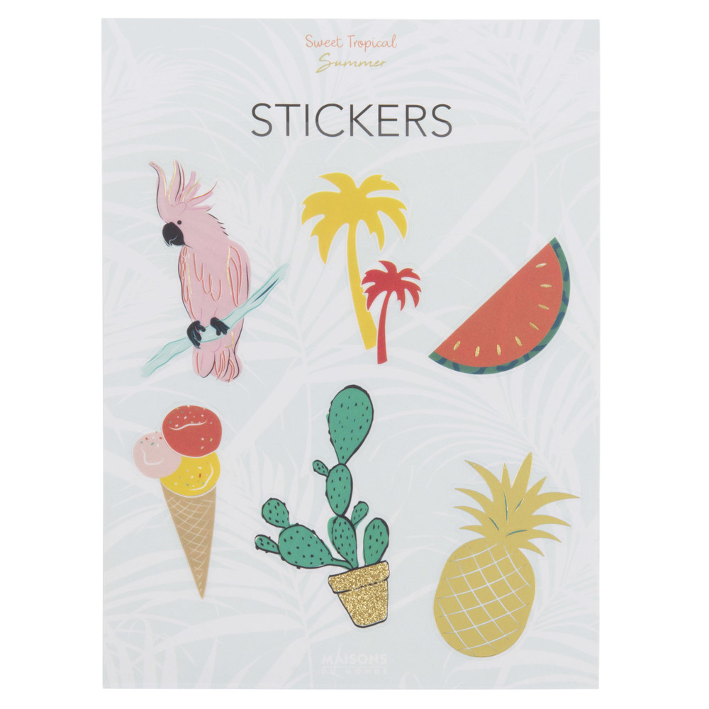 6 stickers motifs tropicaux (photo)