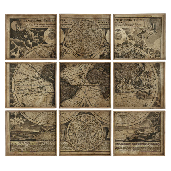 9 cadres carte du monde 189x213 ATLAS (photo)