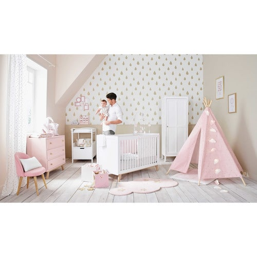 Bird song pink and white baby musical mobile maisons du - Mobile musical maison du monde ...
