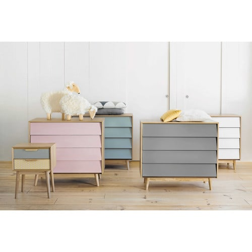 vintage grey 4 drawers chest fjord maisons du monde. Black Bedroom Furniture Sets. Home Design Ideas