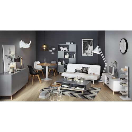 chaise scandinave blanche ice maisons du monde. Black Bedroom Furniture Sets. Home Design Ideas