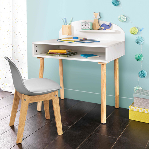 bureau enfant blanc nuage maisons du monde. Black Bedroom Furniture Sets. Home Design Ideas