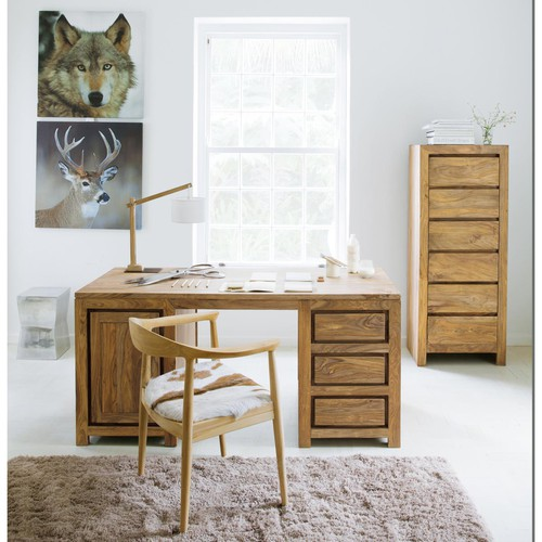 semainier en bois de sheesham massif l 60 cm stockholm maisons du monde. Black Bedroom Furniture Sets. Home Design Ideas
