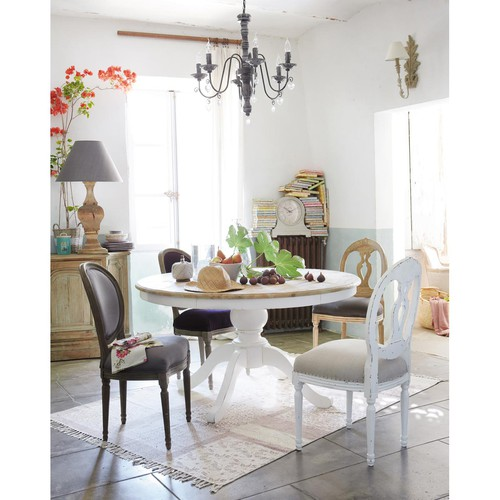 tavolo rotondo per sala da pranzo in betulla d 140 cm provence maisons du monde. Black Bedroom Furniture Sets. Home Design Ideas