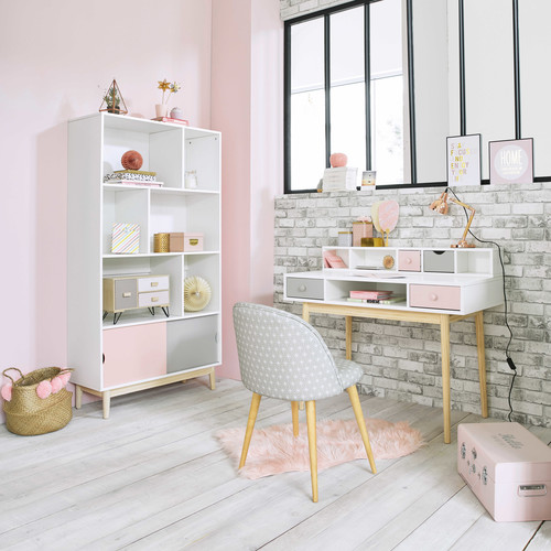 bureau vintage blanc blush maisons du monde. Black Bedroom Furniture Sets. Home Design Ideas