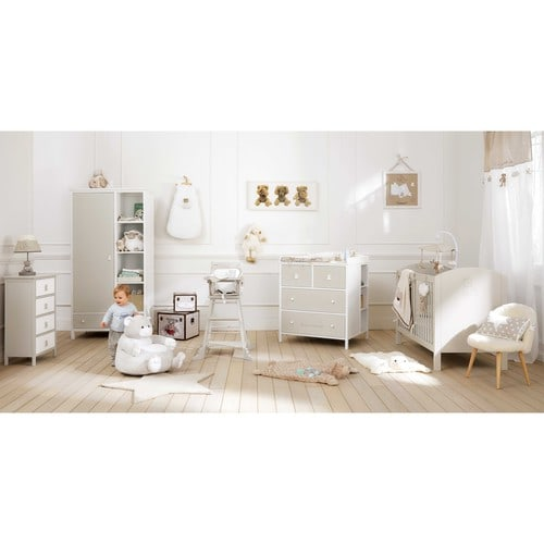 p le m le photo blanc 50 x 50 cm ourson maisons du monde. Black Bedroom Furniture Sets. Home Design Ideas