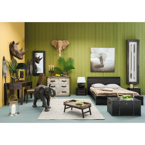 toile l phant 120 x 120 cm terre d 39 afrique maisons du monde. Black Bedroom Furniture Sets. Home Design Ideas