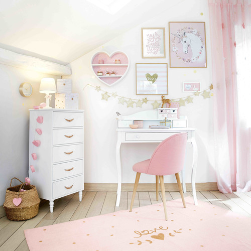 guirlande lumineuse c urs rose l 160 cm lovely maisons du monde. Black Bedroom Furniture Sets. Home Design Ideas