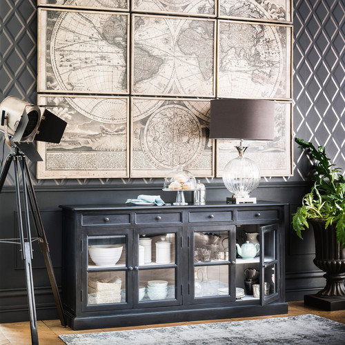 9 cadres mappemonde 189 x 213 atlas maisons du monde. Black Bedroom Furniture Sets. Home Design Ideas